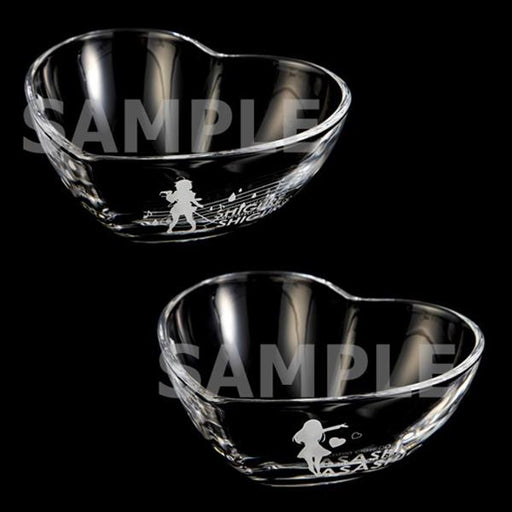 Kantai Collection KanColle × Sanrio Kirinbokukawa Land Valentine - Event Exclusive Heart Shaped Character Glass Bowl