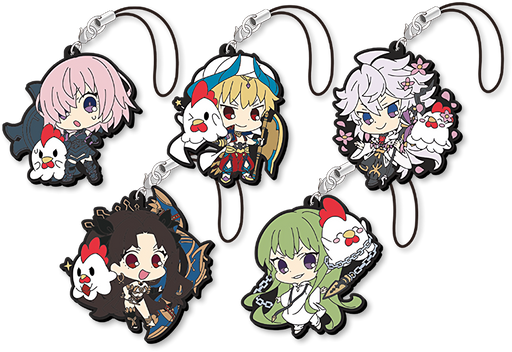Fate Grand Order x Lawson Karaage-Kun - Limited Character Rubber Mascot Strap