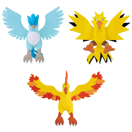 "Pokemon - Legendary Zapdos, Articun & Moltres 11"" - Character DX Stuffed Plush Toy"