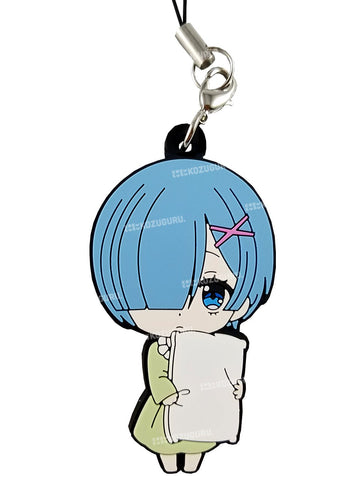 Re:Zero - Rem with Pillow - Capsule Rubber Phone Strap
