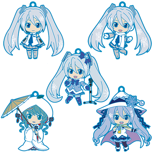 Vocaloid - Snow Miku - Nendoroid Plus Character Rubber Key Chain Mascot Vol.1