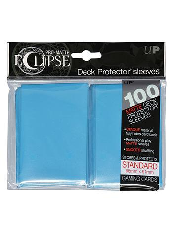Ultra Pro: Eclipse Deck Protector Sleeves Pro-Matte Sky Blue Standard 100CT