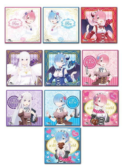 Re:Zero Collab Cafe Exclusive Microfiber Character Hand Towel