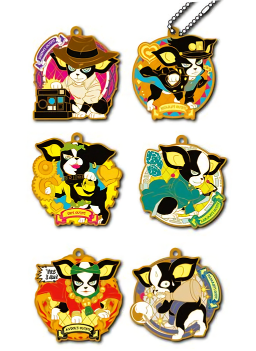 JoJo's Bizarre Adventure Iggy's Cosplay Rubber Mascot Key Chain Set 6pcs Gold Ver.