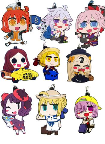 Fate Go Fest FGO Event Exclusive Riyo Drawn Rubber Charm Strap Mascot