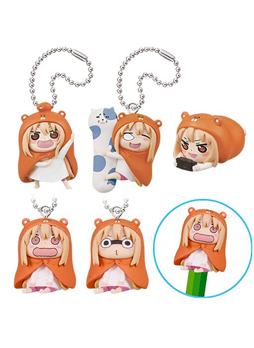 Umaru-Chan Capsule Mascot Swing Key Chain Pencil Topper *Set of 5*