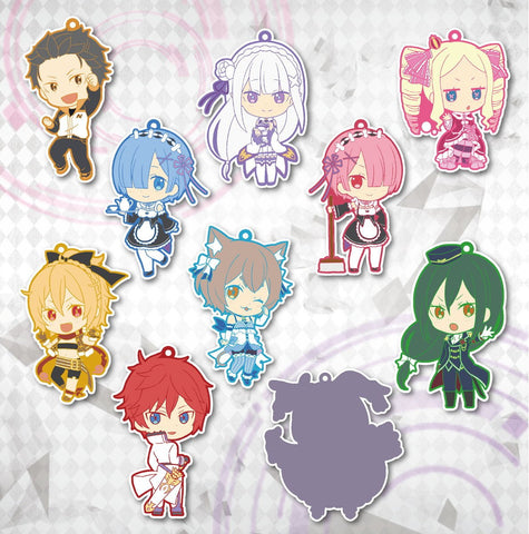 (Preorder) Niitengomu! Re:Zero Starting Life - Keychains Set of 10