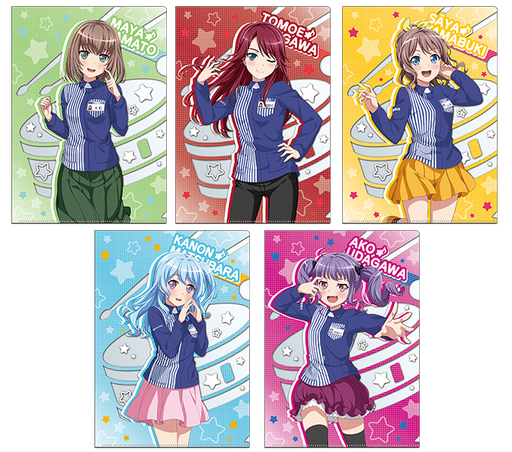 BanG Dream! Bandori - Lawson Collab Limited Character A4 Clear File