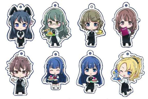Princess Cafe × Rascal Does Not Dream of Bunny Girl Senpai AoButa Acyrlic Key Chain Mascot