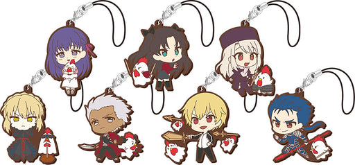 Fate Stay Night Heaven's Feel × Lawson Karaage-kun Collab - Limited Character Rubber Mascot Strap
