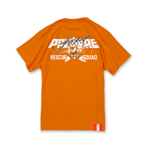 Promare × Rescue Squad Collaboration Street Wear Orange T-shirt