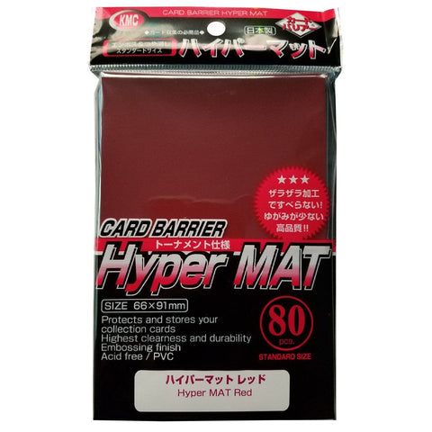 KMC Full Sized Hyper Mat Red (80 COUNT)