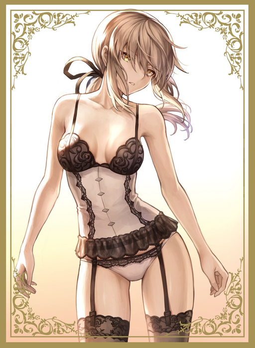 C96 Fate Grand Order - Saber Alter Lingerie Ver. by Mashu Circle Sunpan Doujin Character Sleeves