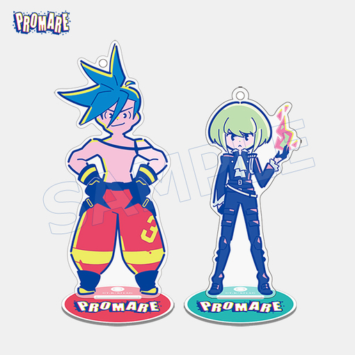 Promare Aniplex - Galo & Lio - Character Limited Acrylic Stand Key Chain Mascot