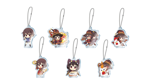 Lawson × Konosuba Movie Collaboration Megumin Character Acrylic Key Holder Keychain Charm