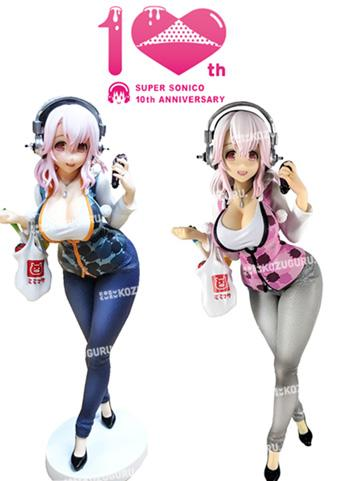 Super Sonico 31 Years Old - Prize Figure 10th Anniversary Bundle
