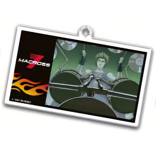 Macross 7 - Art Collab Character Dining Acrylic Key Chain Mascot
