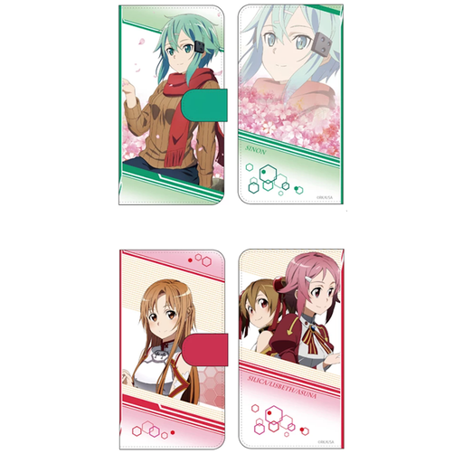 Sword Art Online Alicization - Limited Book Type Character Smart Phone Case Pouch Wallet SAO