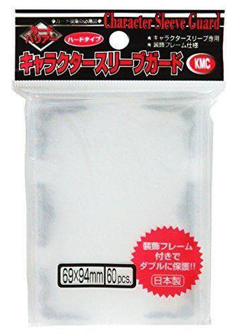 KMC Mat & Clear Silver Over Sleeves Character Guard 60pcs