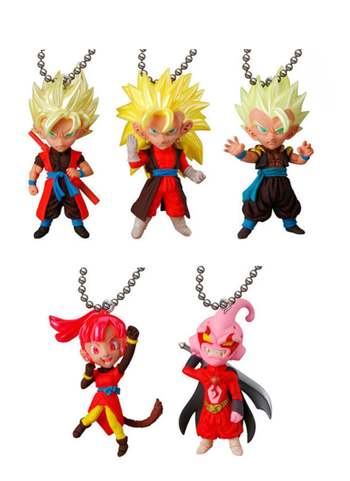 Dragon Ball Super UDM Burst 28 (Set of 5) Capsule Mascot Swing Key Chain