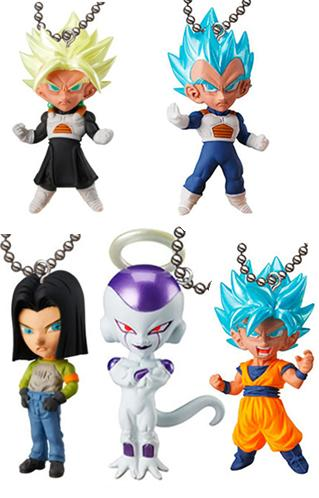 Dragon Ball Super UDM Burst 29 (Set of 5) Capsule Mascot Swing Key Chain