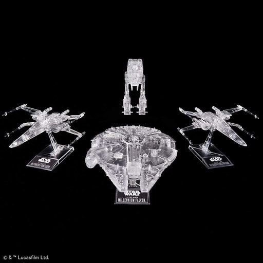 Star Wars - The Last Jedi Clear Vehicle Set - Bandai Spirits Vehicle Model Kit