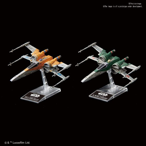 Star Wars - Poe's X-Wing & Resistance X-Wing (Rise of Skywalker Ver.) - Bandai Vehicle Model Kit