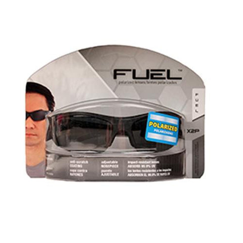 Fuel X2P HP Safety Eyewear, Black,Polarized Gray