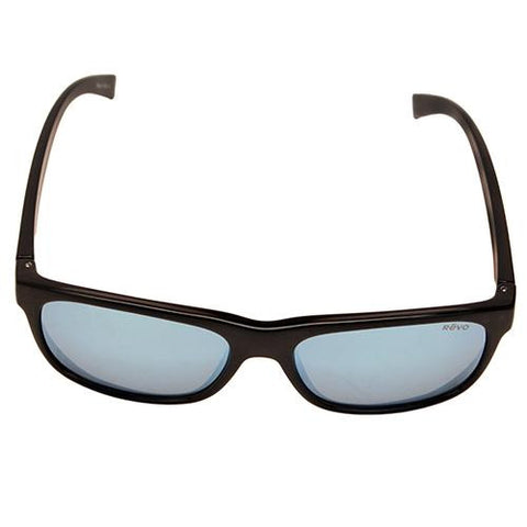 Lukee Sunglasses, Black Woodgrain Frames, Blue Water Serilium Lens