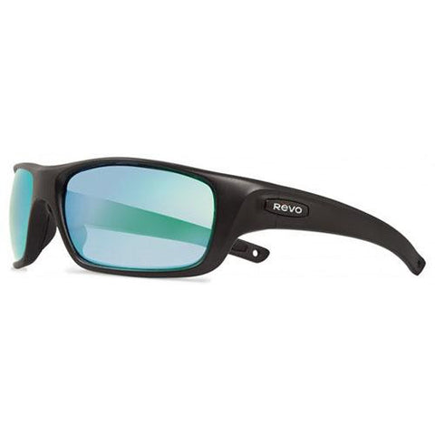 Guide II Sunglasses - Matte Black Frames, Green Water Serilium Lens