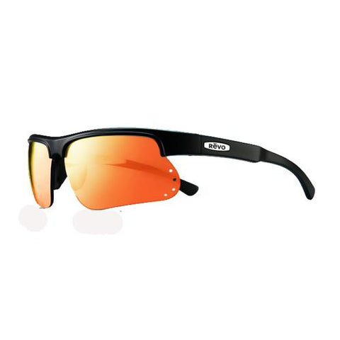 Cusp S Sunglasses - Matte Black Frames, Solar Orange Serilium Lens