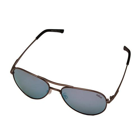 Ellis Sunglasses, Gunmetal Frame, Blue Water Lens