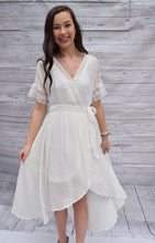 Off White High-Low Dress