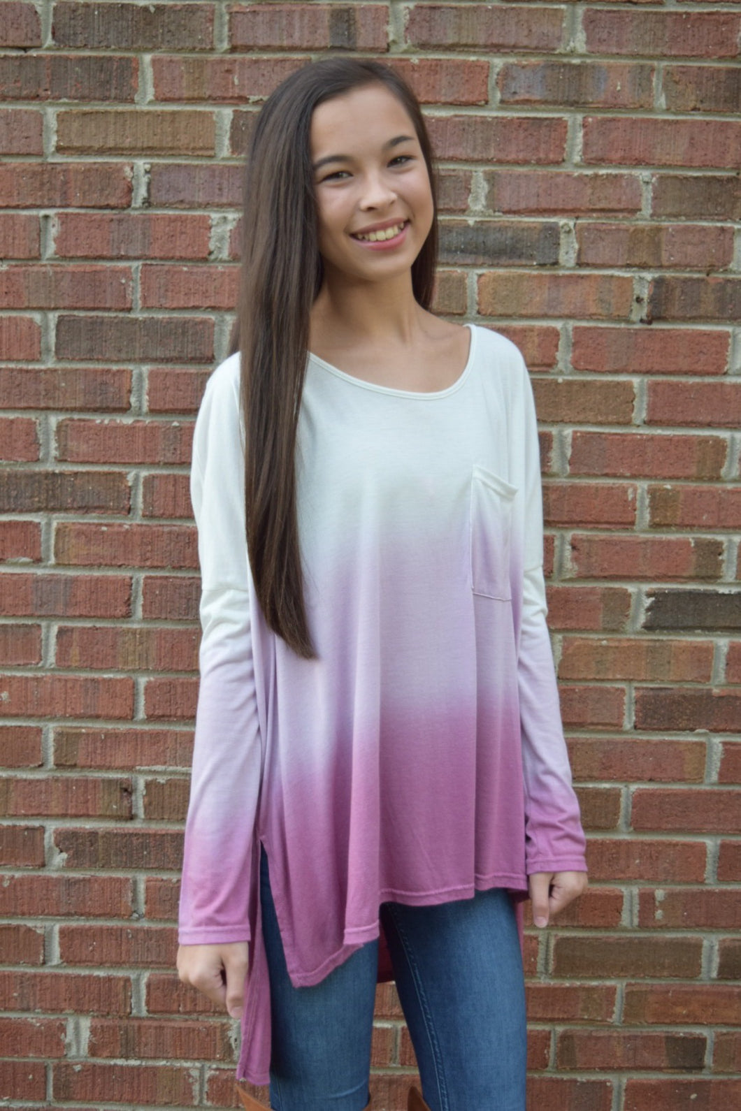 Ombré Purple Blouse