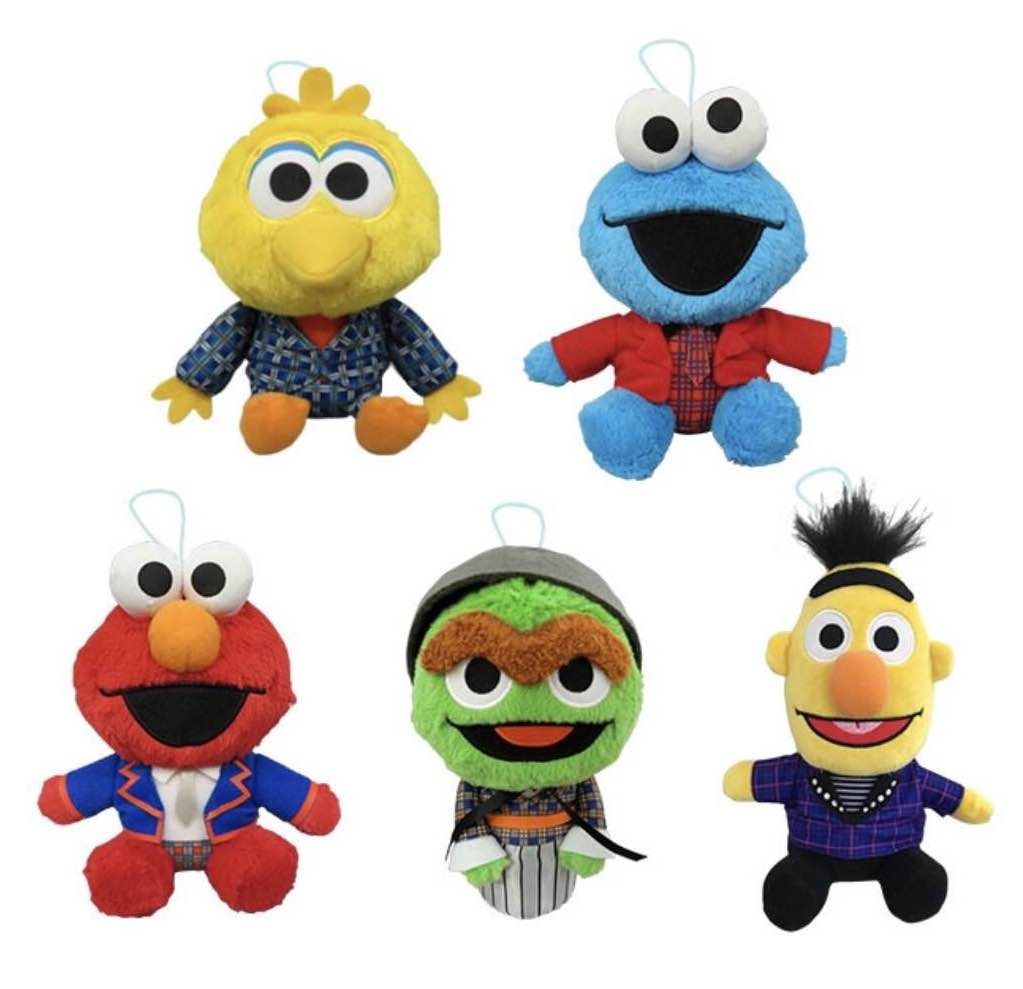 Shinee X Sesame Street Collaboration Plushie Mini Ver on oscar sesame street doll