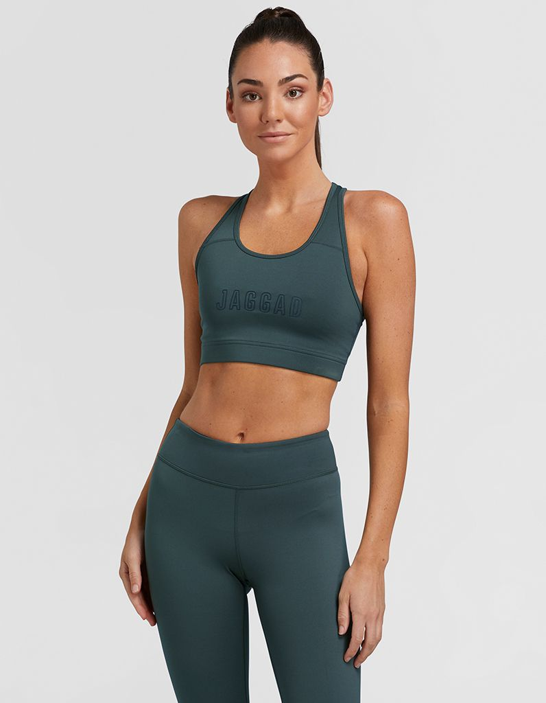 Cool Khaki High Support Crop Top