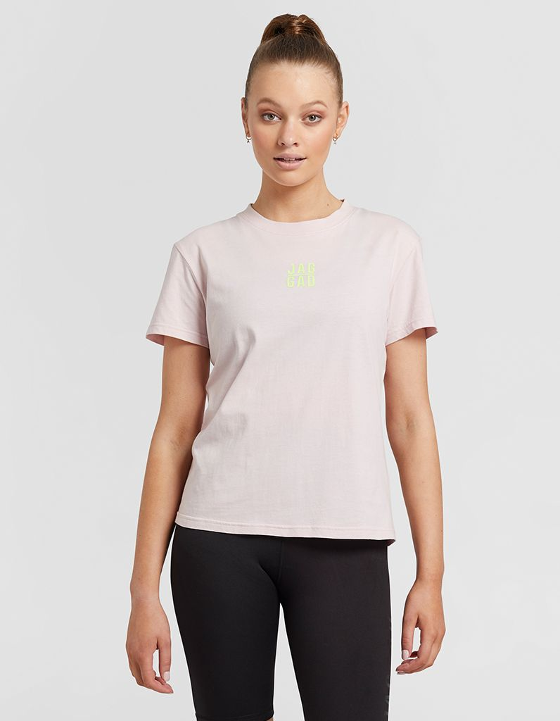 Core Slim T-Shirt-Chalk Pink