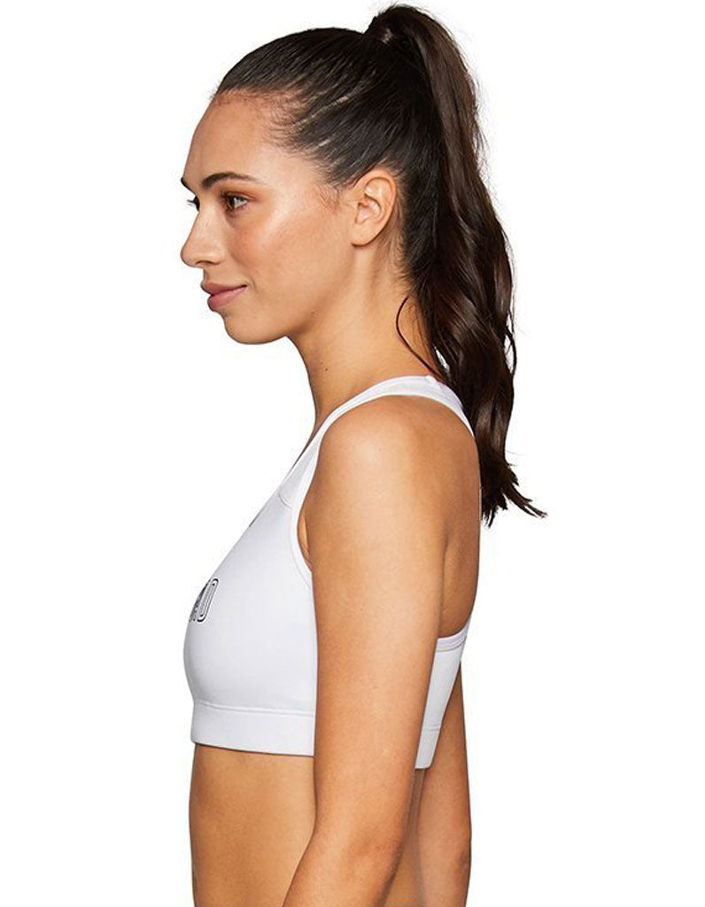 Core Jaggad Crop Top - White