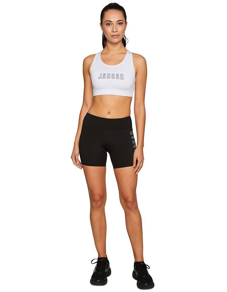 Core Jaggad Crop - White
