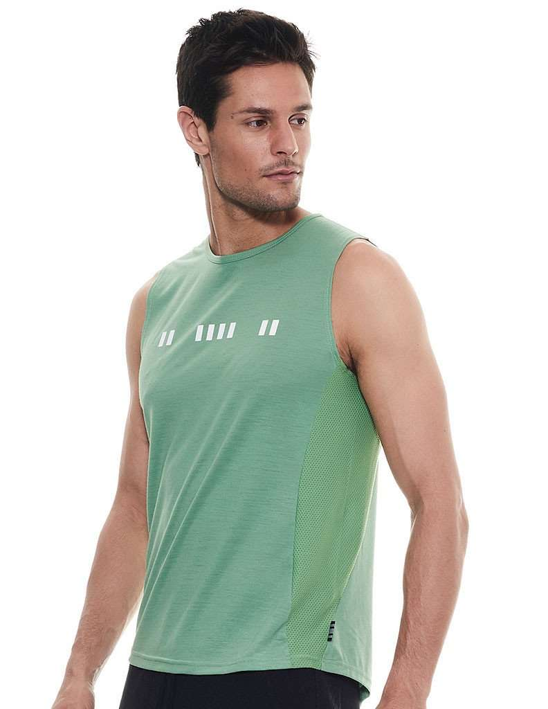 On The Line Stone Green Muscle Tank