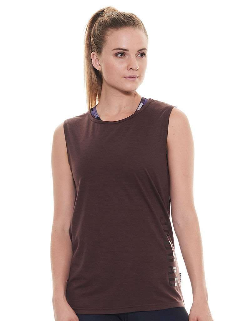 Demi Brownstone Open Back Muscle Tank