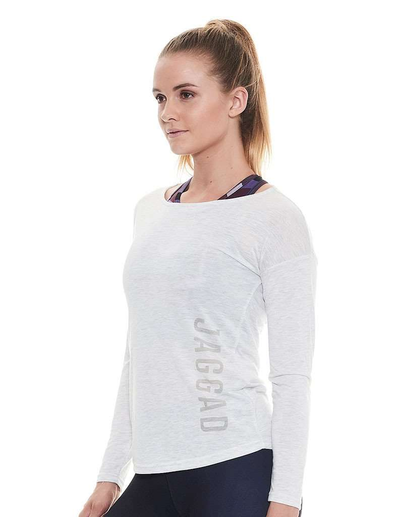 Plie LS Oatmeal Open Back Tee