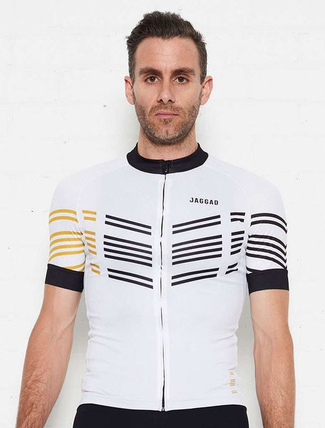 Men's Classic Elite (White 8 Stripes) Jersey