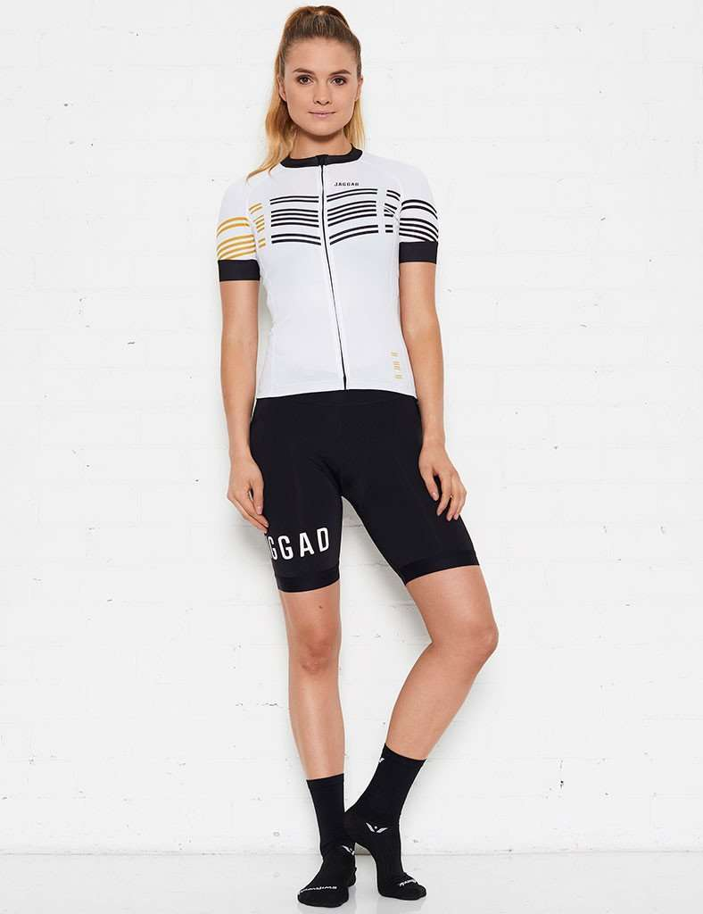 Women's Classic Elite (White 8 Stripes) Jersey