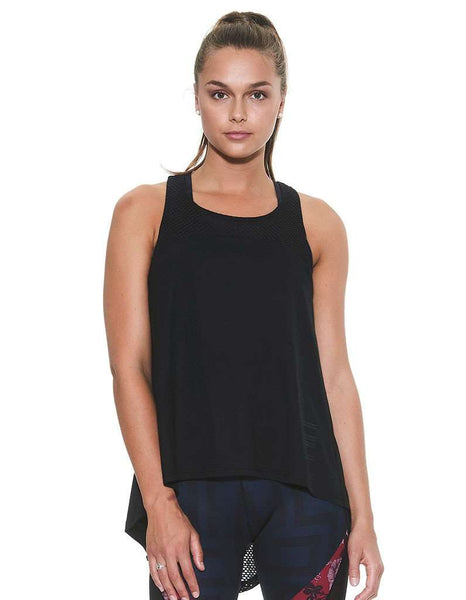 Women's Centre Piece Draped Tank-Phantom