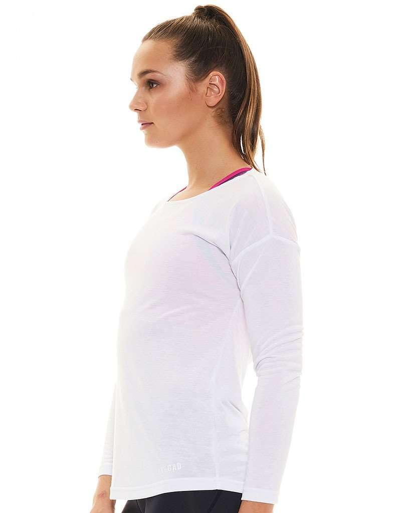 Women's Crystal LS Open Back Tee