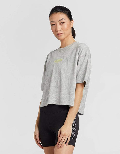 Grey Marle Crop Tee
