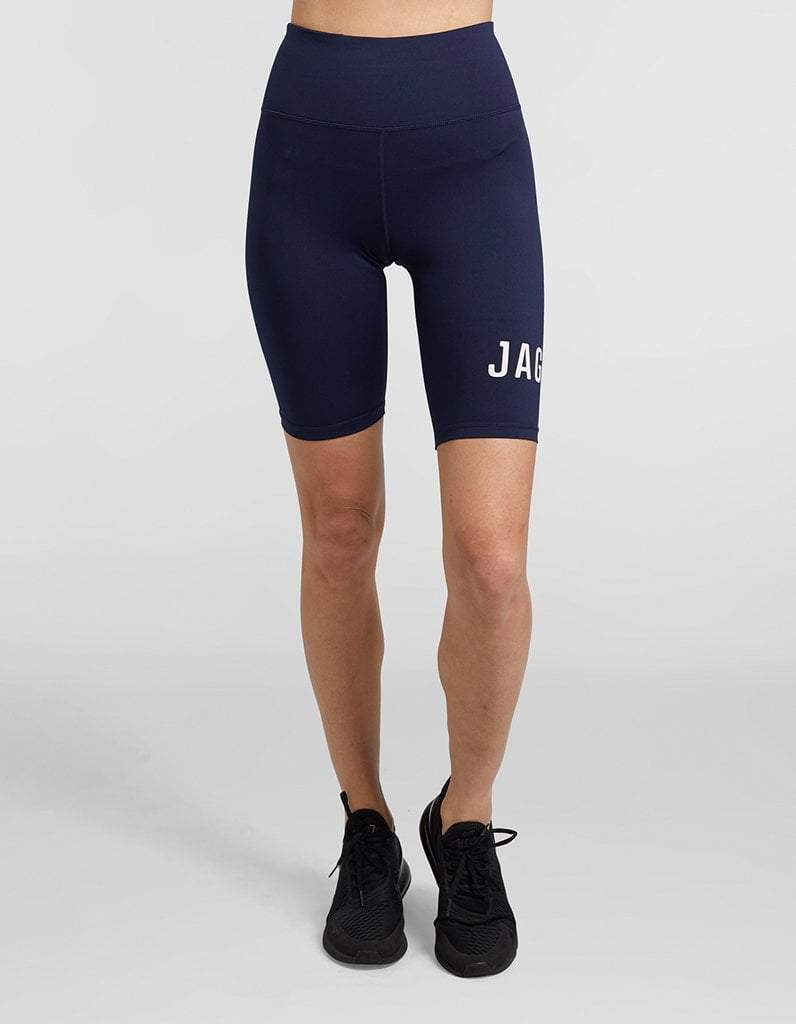 Navy Panelled Spin Short