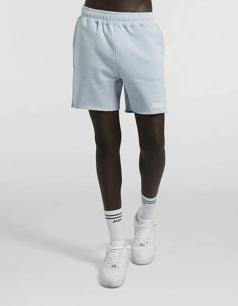 Pale Blue Fleece Shorts