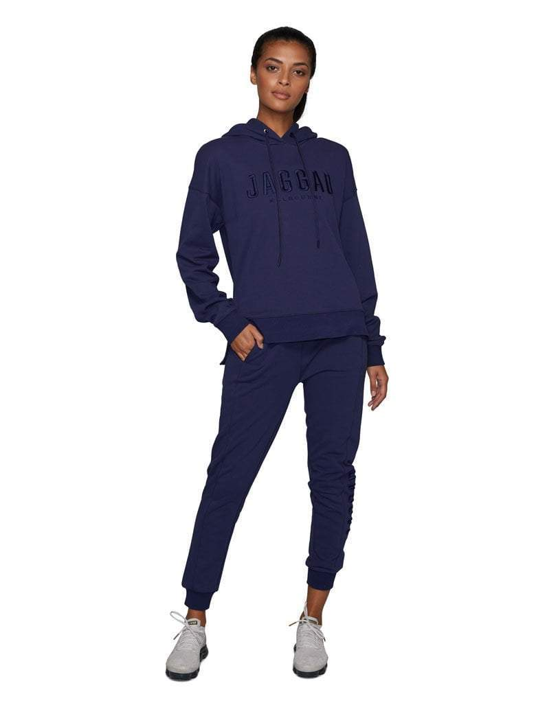 Navy Panelled Trackpants
